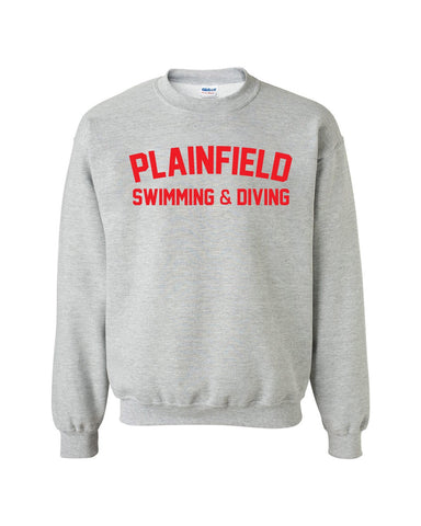 Plainfield Girls Swimming & Diving Crew Neck Sweatshirt - SP