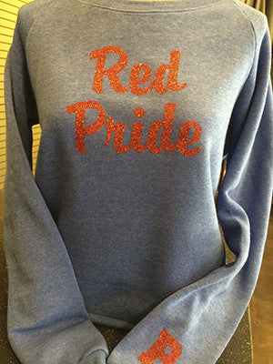 Red Pride Women's Long Sleeve Sweat Shirt - L&M Spirit Gear