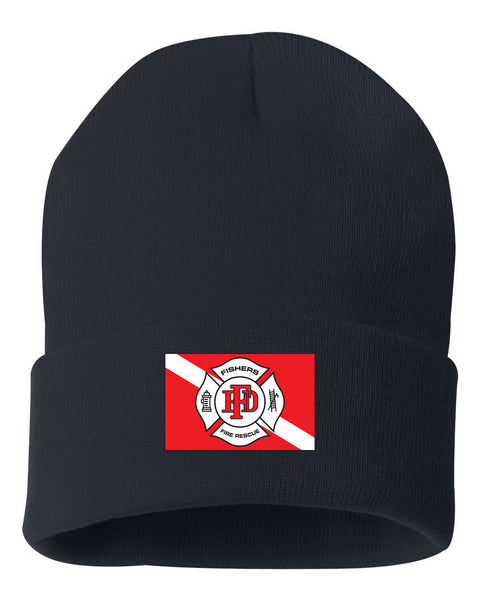 Fishers Fire Department Water Rescue 12 Inch Knit Beanie EMB - L&M Spirit Gear