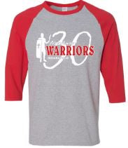 Northwest Warriors Basketball Raglan 30 Years