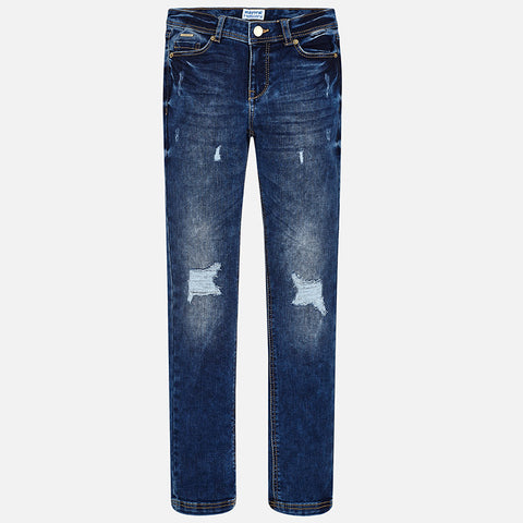 Mayoral Tween Girls Distressed Jeans