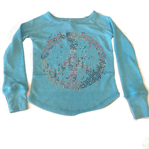 Sparkle by Stoopher Turquoise Peace T-Shirt - Kidz and Company