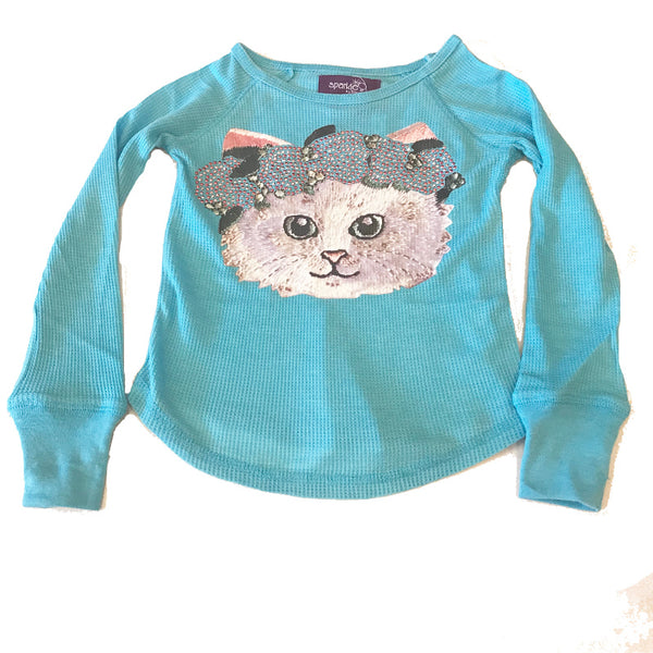 Sparkle by Stoopher Kitty Thermal T-Shirt