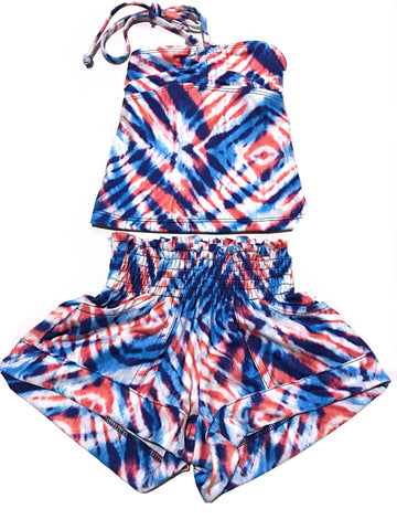 Coral & Reef Tie Dye Beach Outfit - Kidz and Company