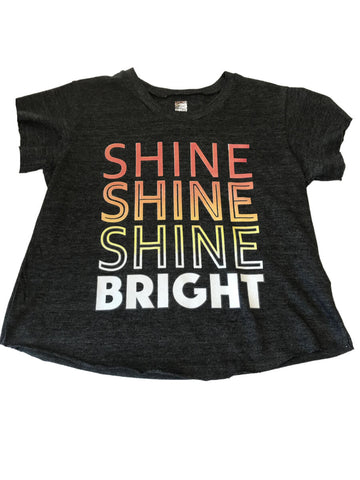 "So Nikki ""Shine Shine Shine Bright"" Boxy Copped T-Shirt"