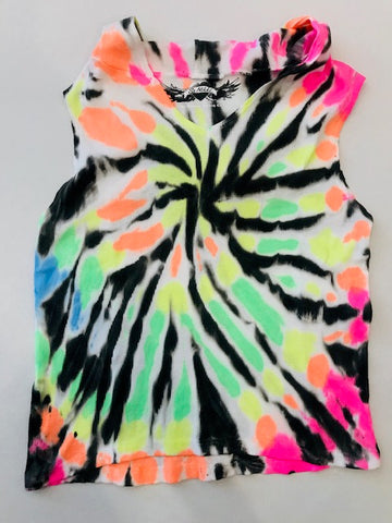 So Nikki Tween Girls Ribbed Tie Dye Hooded Tank Top - Kidz and Company