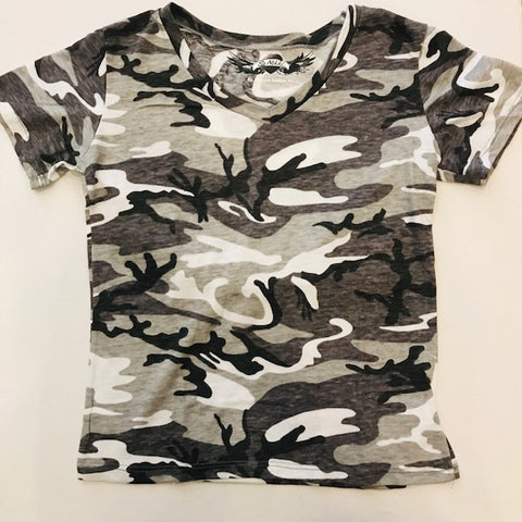 So Nikki Tween Girls Charcoal Camo Tee - Kidz and Company