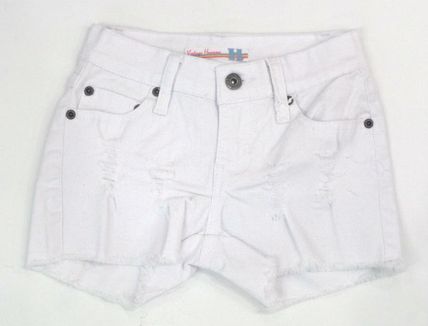 Vintage Havana Ripped White Denim Shorts - Kidz and Company
