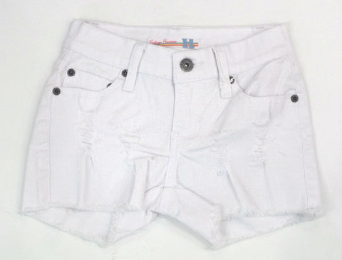 Vintage Havana Ripped White Denim Shorts
