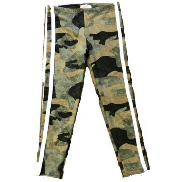 Sofi Clothing Girls Camo Joggers with Stripes