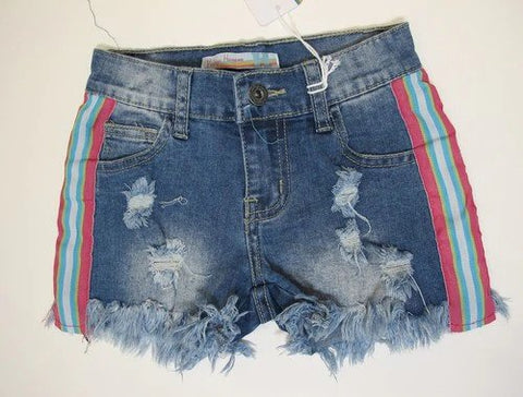 Vintage Havana Side Stripe Medium Wash Denim Shorts