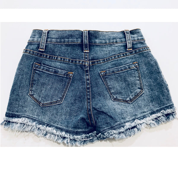 Double pocket back of denim shorts for tween girls by Vintage Havana