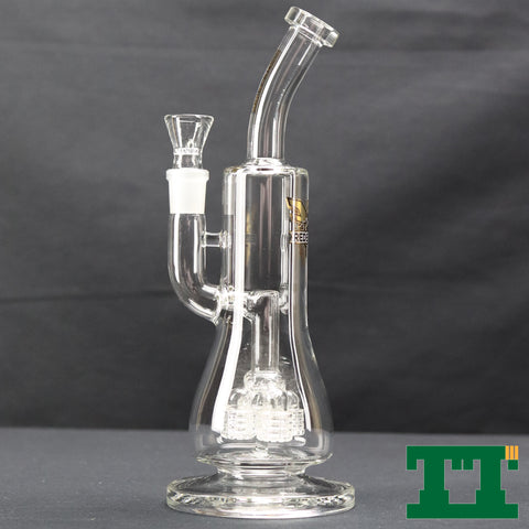 "Red Eye Tek 12"" Hoverhub Flower Bubbler"