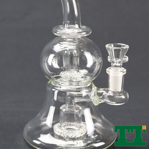 "Red Eye Tek™ 9.5"" Clear Quark Bubbler"