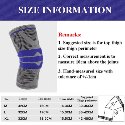KNEE BRACE SLEEVES-BREATHABLE COMPRESSION 2019 FOR GEL PAD AND SPRINGS KNEEPAD SILICON - Market Glad ™