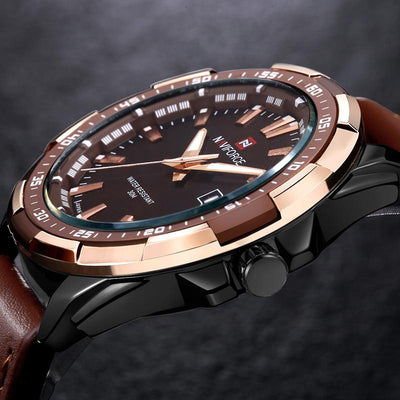 Waterproof Quartz Watch Military Leather - Market Glad ™