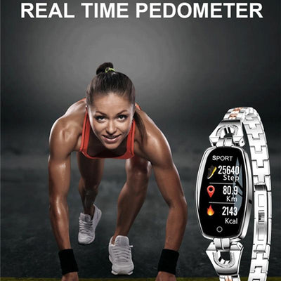 Blood Pressure Heart Rate Monitor Fitness Tracker IP67 Waterproof Female Smartwatch - Market Glad ™