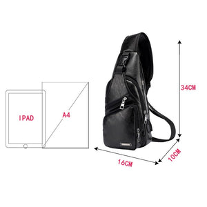 LUXURY CROSSBODY BAG WITH USB - LIMITED EDITION - Market Glad ™