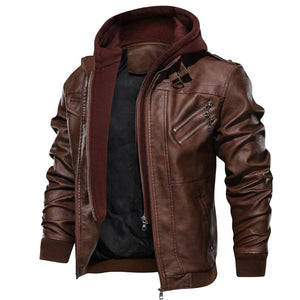 DENZELL LEATHER JACKET Free Shiping - Market Glad ™