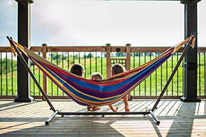 Double Hammock with Space-Saving Steel Stand - Market Glad ™