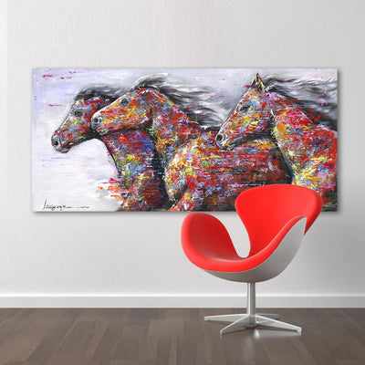 Running Horses Canvas Wall Art Free Shipping - Market Glad ™