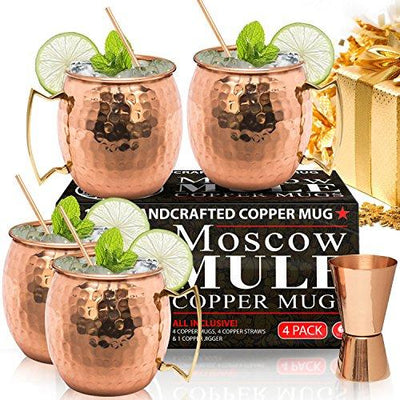Moscow Mule Copper Mugs - Set of 4 - Market Glad ™