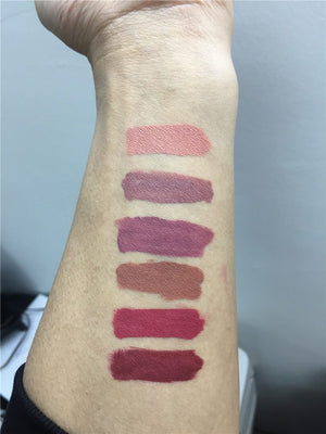 6Pcs/Lot Matte Lipsticks Does Not Faded Liquid Lip Gloss + Free Shipping - Market Glad ™