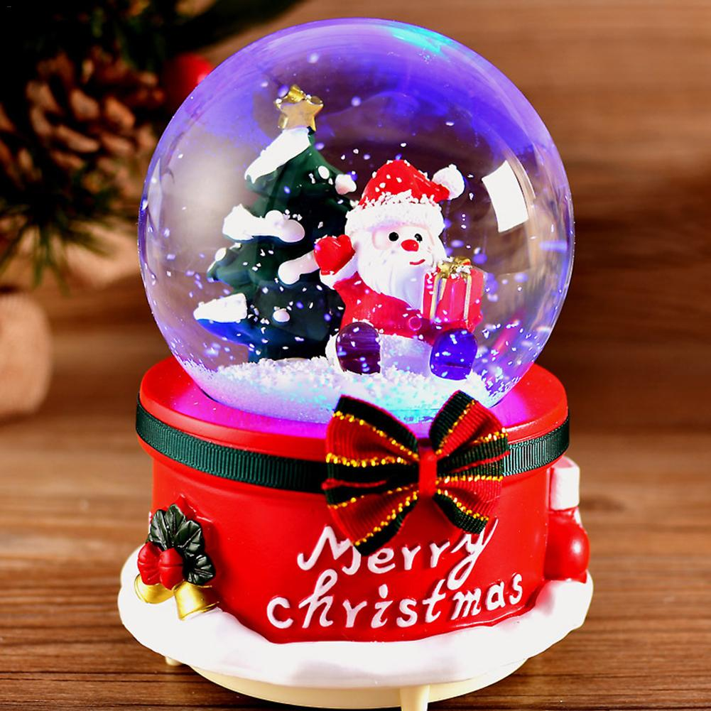 Christmas Crystal Ball Music Box with Light + Free Shipping - Market Glad ™