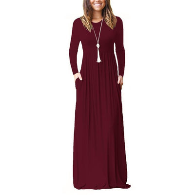 Casual Long Dresses With Pockets - Market Glad ™