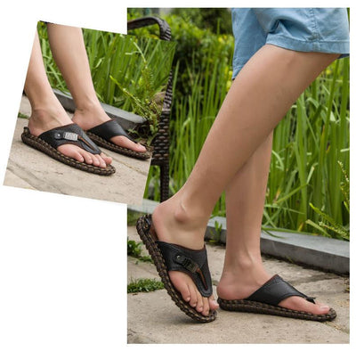 Hand-made Genuine Leather Sandal - Market Glad ™