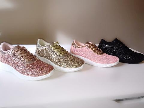 Glitter Lace Up Sneakers - Market Glad ™