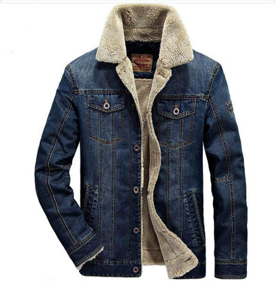 Thick denim jean jacket + Free Shipping - Market Glad ™
