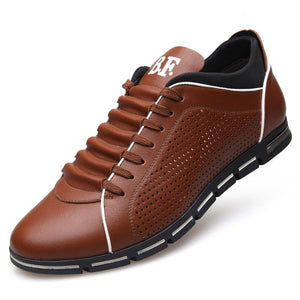 NEW ENGLAND MALE BREATHABLE LEATHER CASUAL SHOES - Market Glad ™