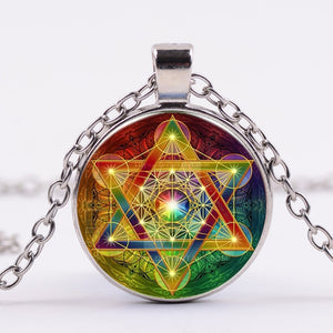 Metatron Cube Pendant Necklace