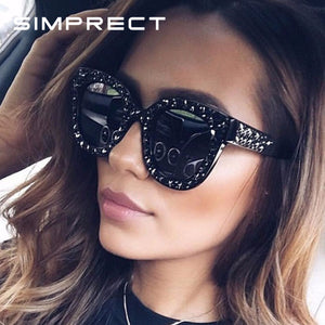 Cat Eye Sunglasses Star Rhinestone Frame