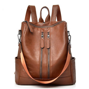 Leather Backpack Teenager Girl