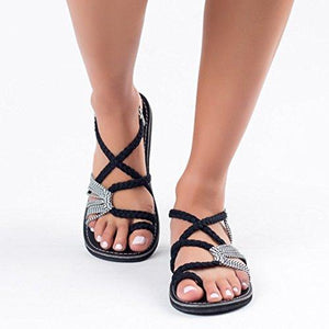 Handmade Breathable Bandage Beach Flat Sandals - Market Glad ™