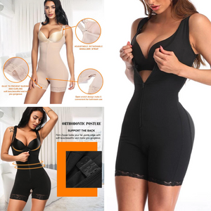Women's Zipper Slimming Bodysuit Shapewear