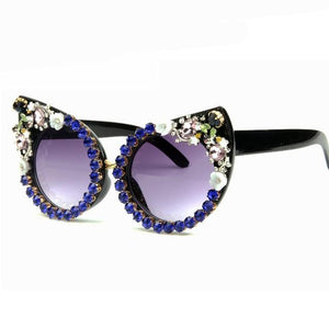 FLORAL CAT EYE SUNGLASSES