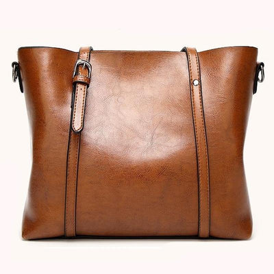 Luxury Oil Waxed Leather Tote Handbag - Market Glad ™