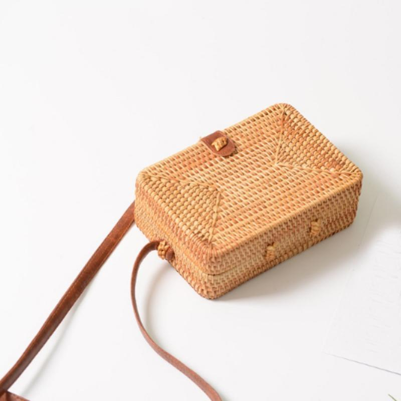 Handmade Rectangular Rattan Messenger Bag - Market Glad ™
