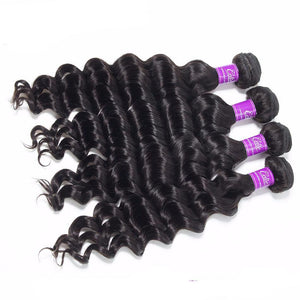 Brazilian Hair Weave Bundles Natural Black