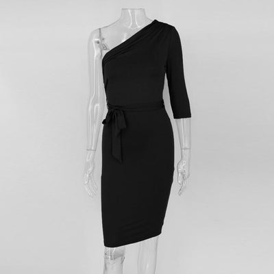 Dolly Elegant Bodycon Dress-Gray - Market Glad ™