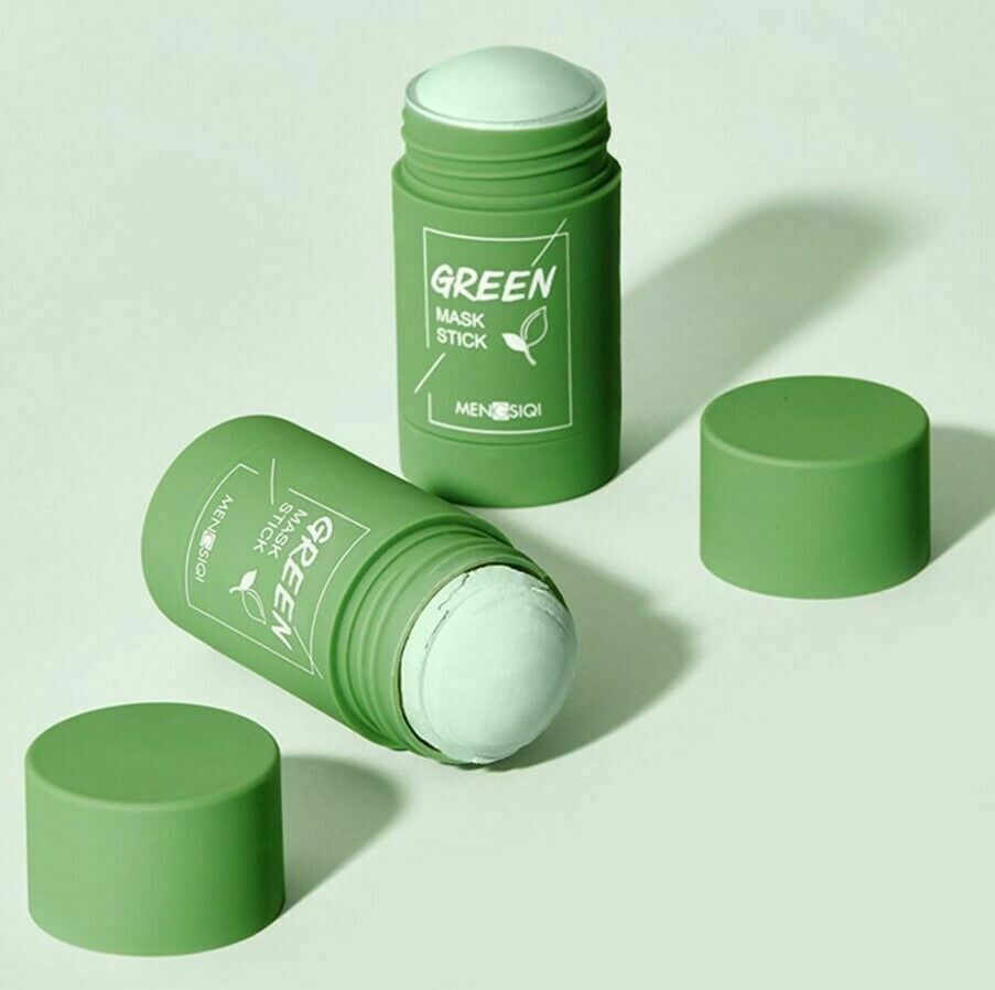 Green Tea Oil Control Anti-Acne Solid Mask Purifying Clay Moisturizing Stick