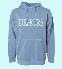 Load image into Gallery viewer, Hoodie DEHORS bleu