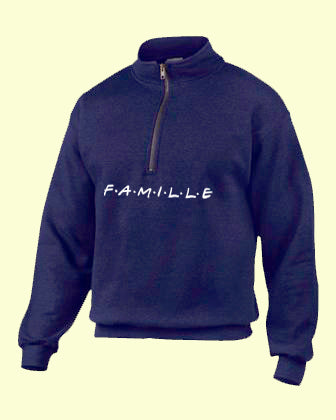 Fleece FAMILLE navy