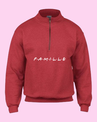 Fleece FAMILLE rouge