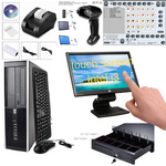 21.5 inches Touchscreen Monitor Intel i3 core Low price Full POS all-in-one Point of Sale System Combo Kit Retail Store HP