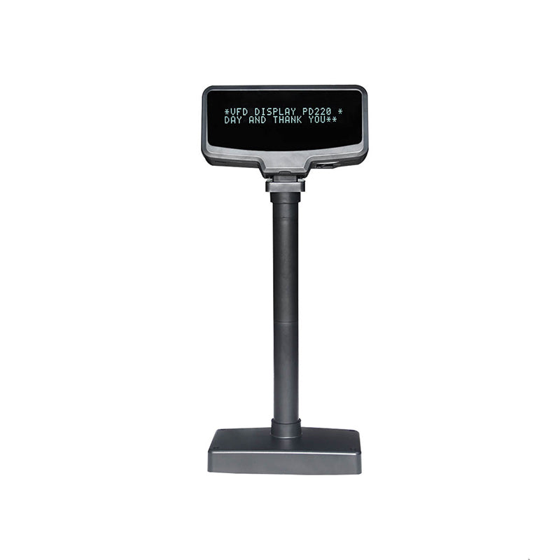 USB Pole Display - Black POS system Adjustable Height Customer Pole - NEW! Epson compatible