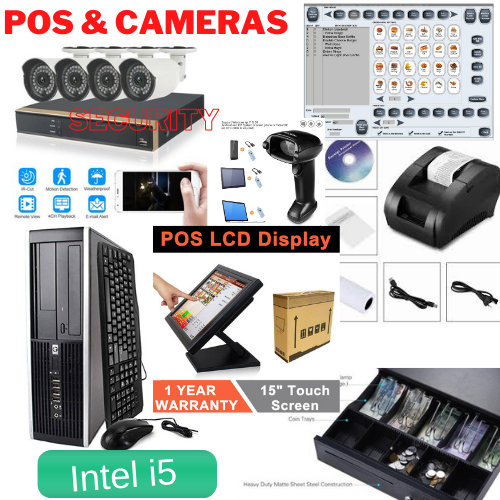 Touch Screen Best Deal Camera Security Dvr 4 x Cameras  & POS Point of Sale System Intel Core i5 Duo Combo Kit Retail Store